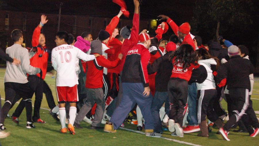 St Joe's boys soccer wins sectional match in 4 OTs