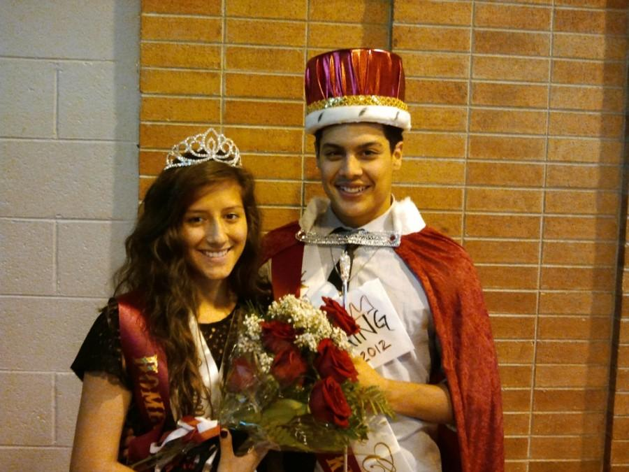 King and Queen of the 2012 Homecoming Court