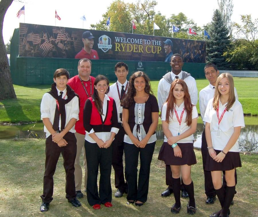 St. Joseph Students at the Ryder Cup