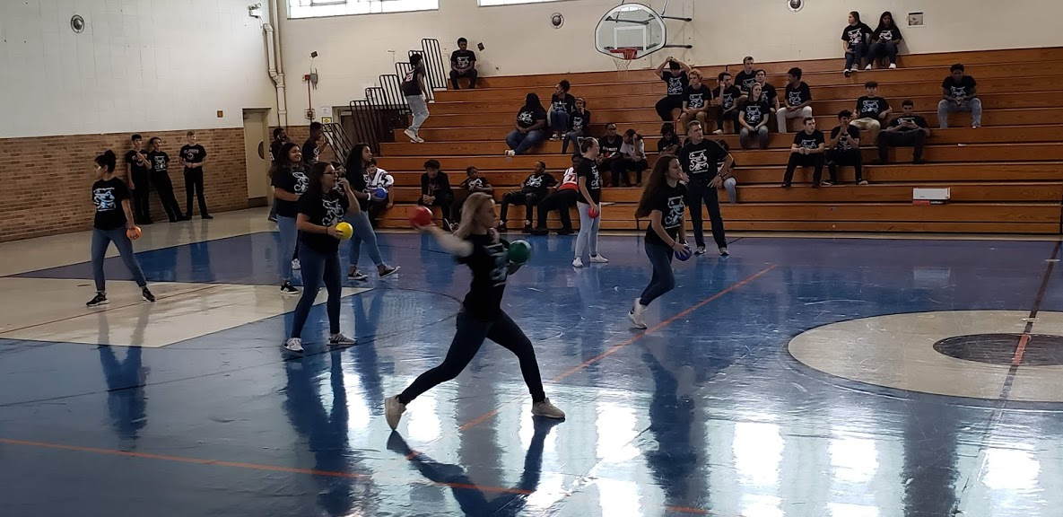 Students participating in Olympic Day festivities on Friday, Sept. 13.
